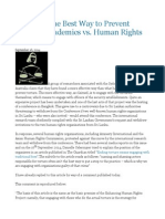 WORLD the Best Way to Prevent Torture Academics vs. Human Rights Defenders