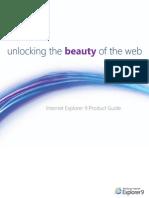 Internet Explore 9 Product Guide