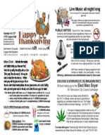 Pamphlet for a Thanksgiving Feast