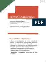 As Dicotomias Saussurianas