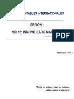 NIC 16 Inmovilizado Material y NIIF 05