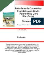 Estandar de Contenido- Matemática Elemental 2014 Para Taller