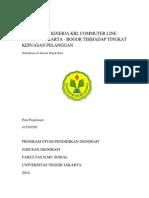 Efektivitas Kinerja Krl Commuter Line Jurusan Jakarta