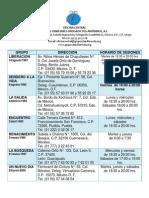 Directorio GFDA Para Grupos