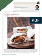 Pork Belly Buns Recipe - Steamy Kitchen Recipes
