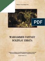 Warhammer Fantasy RPG (WFRP 2) Errata[1]