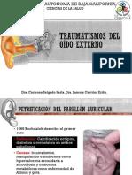 Traumatismos Del Oido Externo y Estudios Del Oido Externo, Medio e Interno