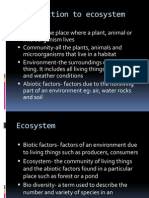 Introduction to Ecosystem