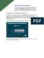 Instalacion de a Windows 8