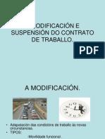 A Modificación e Suspensión Do Contrato de Traballo