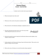 Human Planet Worksheet - Oceans, Into the Blue