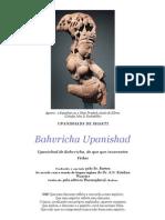 Bahvricha Upanishad (Traduzido Para Inglês) (Traduzido Para Português)