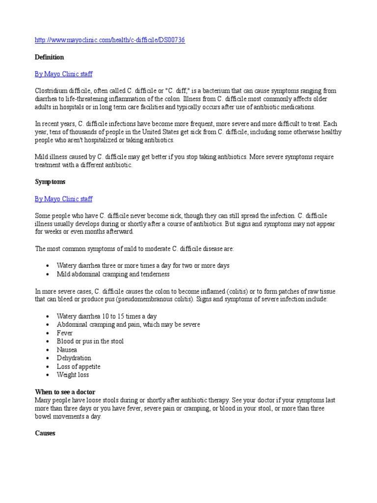 c-difficile information   antibiotics   public health