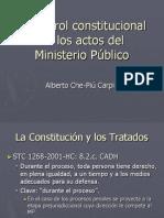 El Control Constitucional de Los Actos Del MP Che Piu
