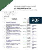 1-08-13 to 5-30-14 Document list NYSC Case# 50098:13 -- Doc. No. 8; Doc. No. 9