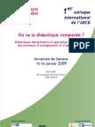 """1^ Colloque international de l'ARCD - """"Où va la didactique comparée?"""""""