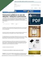 Concursos Públicos No Ano de Eleições_ Vedações e Permissões _ Francisco Dirceu Barros