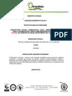 Proyecto de Pliego de Condiciones.