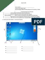 Windows 7 Desktop Quiz Gr 3 ( 7 Copies )