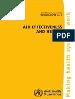 WHO/HSS/Healthsystems/2007.2