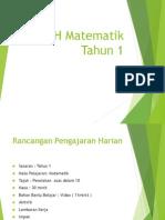 RPH Matematik Tahun 1edit