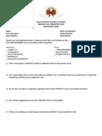 ARSAFEST 2015 Core App Form
