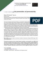 Prevencion Farmacologica de Prematuridad-2008