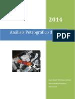 Análisis Microscópico Petrográfico de Rocas Igneas