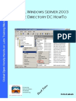 Install Windows Server 2003 Active Directory Domain Controller HowTo v1.0