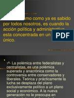 Centarlismo y Federalismo