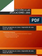Introducción a Las Aplicaciones Java