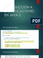Introducción a Las Aplicaciones en Java 2