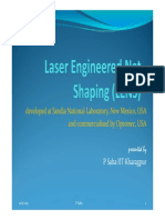 Laser Engineered Net Shaping (LENS)