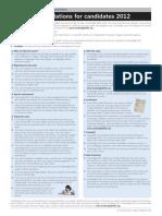 Summary Regulations 2012