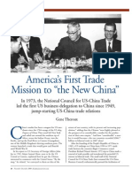 America's First Trade Mission to the New China