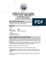 City Council Closed Session Minutes 09-18-14