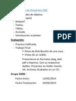 Curso Organización de Proyectos CAD