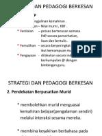 Strategi Dan Pedagogi Berkesan