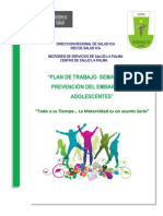 Plan Prevencion de Embarazo en Adolescentes