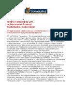 com0929 271006 Tendrá Tamaulipas Ley de Desarrollo Forestal Sustentable
