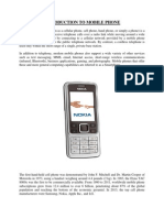 Technical Introduction to Mobile Phones