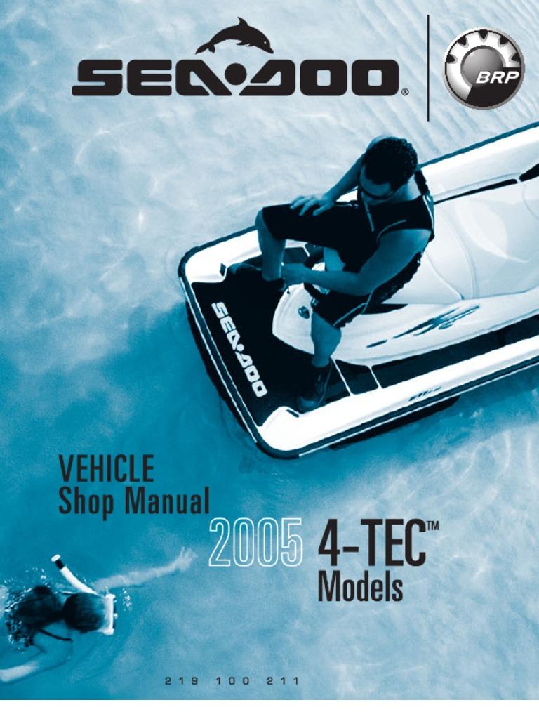 sea doo shop manual 2005 machines propulsion rh scribd com