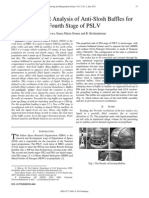 Design and FE Analysis of Anti-Slosh Baffles for Fourth Stage of PSLV