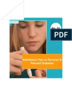 Nutritional Plan to Reverse and Prevent Diabetes.  Understanding Diabetes