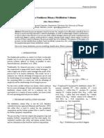 Modeling a Nonlinear Binary Distillation Column