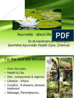 Ayurveda Intro in brief