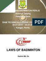 LAWS of Badminton