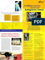 Million reasons not to eat kangaroo meat