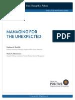 Managing Unexpected Sutcliffe