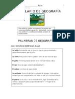 1Vocabulario de Geografía